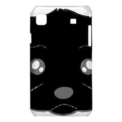 Affenpinscher Cartoon 2 Sided Head Samsung Galaxy S i9008 Hardshell Case