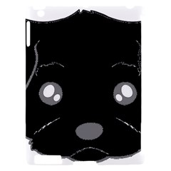 Affenpinscher Cartoon 2 Sided Head Apple iPad 2 Hardshell Case (Compatible with Smart Cover)