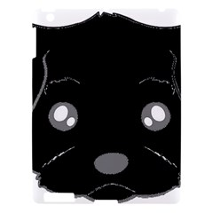 Affenpinscher Cartoon 2 Sided Head Apple iPad 3/4 Hardshell Case