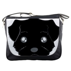 Affenpinscher Cartoon 2 Sided Head Messenger Bag