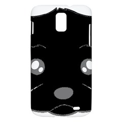 Affenpinscher Cartoon 2 Sided Head Samsung Galaxy S II Skyrocket Hardshell Case