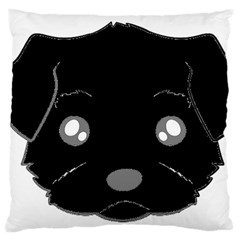 Affenpinscher Cartoon 2 Sided Head Large Cushion Case (Single Sided)