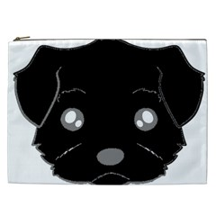 Affenpinscher Cartoon 2 Sided Head Cosmetic Bag (XXL)
