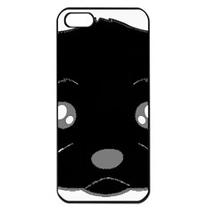 Affenpinscher Cartoon 2 Sided Head Apple iPhone 5 Seamless Case (Black)