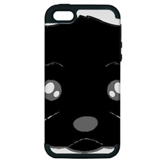 Affenpinscher Cartoon 2 Sided Head Apple iPhone 5 Hardshell Case (PC+Silicone)