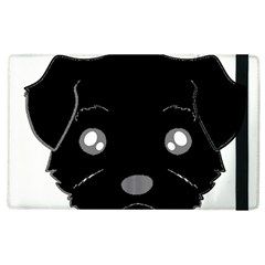 Affenpinscher Cartoon 2 Sided Head Apple iPad 2 Flip Case