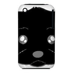 Affenpinscher Cartoon 2 Sided Head Apple iPhone 3G/3GS Hardshell Case (PC+Silicone)