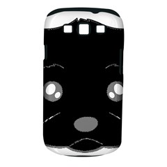 Affenpinscher Cartoon 2 Sided Head Samsung Galaxy S III Classic Hardshell Case (PC+Silicone)