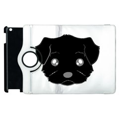 Affenpinscher Cartoon 2 Sided Head Apple iPad 3/4 Flip 360 Case