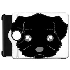 Affenpinscher Cartoon 2 Sided Head Kindle Fire HD Flip 360 Case