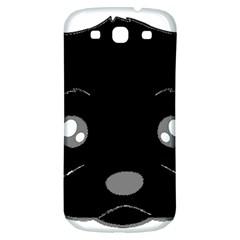 Affenpinscher Cartoon 2 Sided Head Samsung Galaxy S3 S III Classic Hardshell Back Case