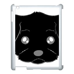 Affenpinscher Cartoon 2 Sided Head Apple iPad 3/4 Case (White)