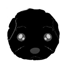 Affenpinscher Cartoon 2 Sided Head Standard 15  Premium Round Cushion