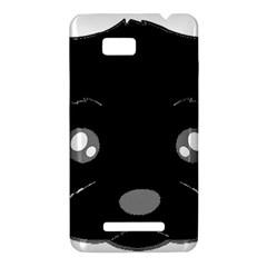 Affenpinscher Cartoon 2 Sided Head HTC One SU T528W Hardshell Case