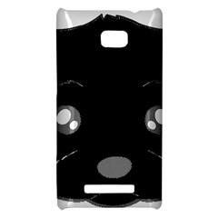 Affenpinscher Cartoon 2 Sided Head HTC 8X Hardshell Case
