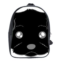 Affenpinscher Cartoon 2 Sided Head School Bag (XL)