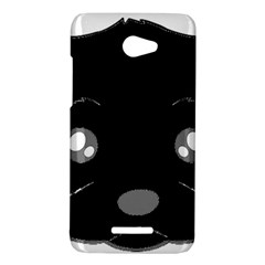 Affenpinscher Cartoon 2 Sided Head HTC Butterfly (X920e) Hardshell Case