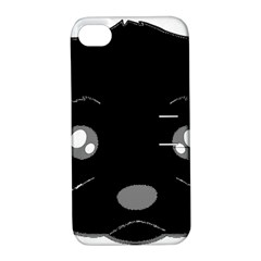 Affenpinscher Cartoon 2 Sided Head Apple iPhone 4/4S Hardshell Case with Stand