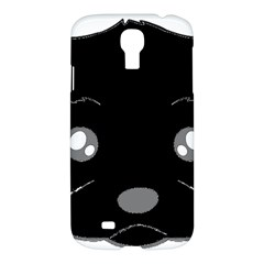 Affenpinscher Cartoon 2 Sided Head Samsung Galaxy S4 I9500/I9505 Hardshell Case