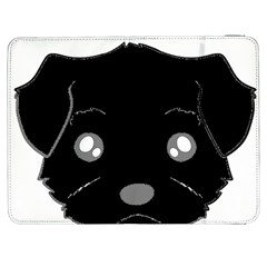 Affenpinscher Cartoon 2 Sided Head Samsung Galaxy Tab 7  P1000 Flip Case