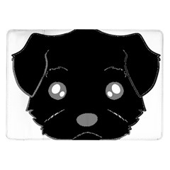 Affenpinscher Cartoon 2 Sided Head Samsung Galaxy Tab 10.1  P7500 Flip Case
