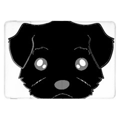 Affenpinscher Cartoon 2 Sided Head Samsung Galaxy Tab 8.9  P7300 Flip Case