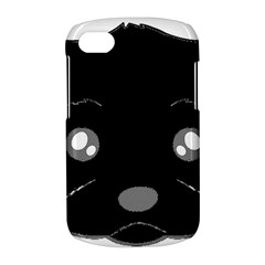 Affenpinscher Cartoon 2 Sided Head BlackBerry Q10 Hardshell Case