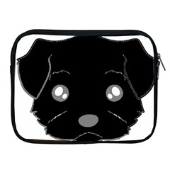 Affenpinscher Cartoon 2 Sided Head Apple iPad Zippered Sleeve