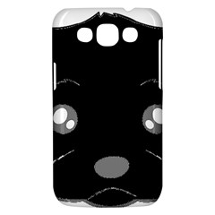 Affenpinscher Cartoon 2 Sided Head Samsung Galaxy Win I8550 Hardshell Case