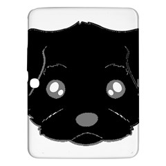 Affenpinscher Cartoon 2 Sided Head Samsung Galaxy Tab 3 (10.1 ) P5200 Hardshell Case