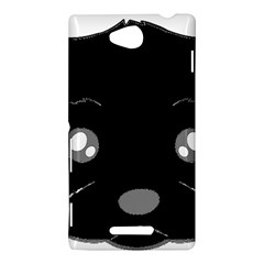 Affenpinscher Cartoon 2 Sided Head Sony Xperia C (S39H) Hardshell Case