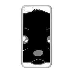Affenpinscher Cartoon 2 Sided Head Apple iPhone 5C Seamless Case (White)