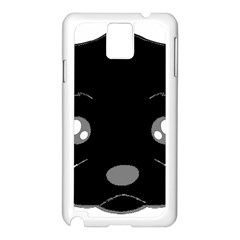 Affenpinscher Cartoon 2 Sided Head Samsung Galaxy Note 3 N9005 Case (White)