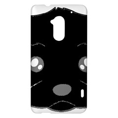 Affenpinscher Cartoon 2 Sided Head HTC One Max (T6) Hardshell Case