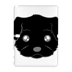 Affenpinscher Cartoon 2 Sided Head Samsung Galaxy Note 10.1 (P600) Hardshell Case