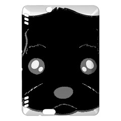 Affenpinscher Cartoon 2 Sided Head Kindle Fire HDX Hardshell Case