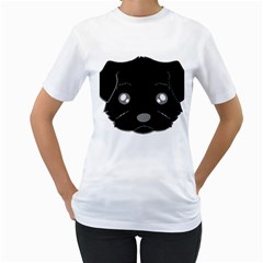 Affenpinscher Cartoon 2 Sided Head Women s T-Shirt (White)
