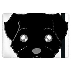 Affenpinscher Cartoon 2 Sided Head Apple iPad Air Flip Case