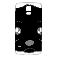 Affenpinscher Cartoon 2 Sided Head Samsung Galaxy S5 Back Case (White)