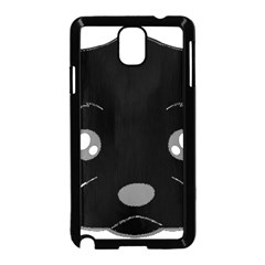 Affenpinscher Cartoon 2 Sided Head Samsung Galaxy Note 3 Neo Hardshell Case (Black)