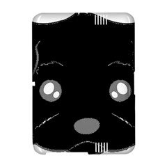 Affenpinscher Cartoon 2 Sided Head Kindle Fire HD Hardshell Case