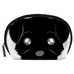 Affenpinscher Cartoon 2 Sided Head Accessory Pouch (Large)