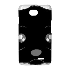 Affenpinscher Cartoon 2 Sided Head LG Optimus L70 Hardshell Case