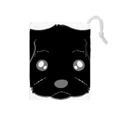 Affenpinscher Cartoon 2 Sided Head Drawstring Pouch (Medium)
