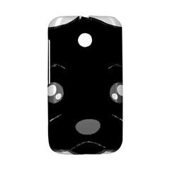 Affenpinscher Cartoon 2 Sided Head Motorola Moto E Hardshell Case