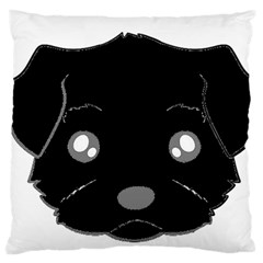Affenpinscher Cartoon 2 Sided Head Standard Flano Cushion Case (One Side)