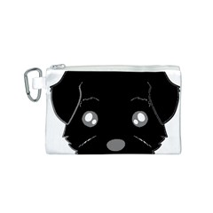 Affenpinscher Cartoon 2 Sided Head Canvas Cosmetic Bag (Small)