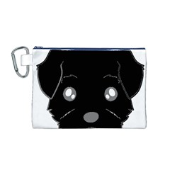 Affenpinscher Cartoon 2 Sided Head Canvas Cosmetic Bag (Medium)
