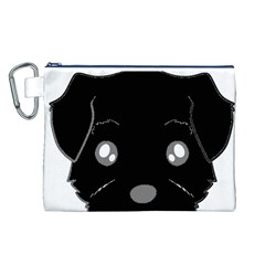 Affenpinscher Cartoon 2 Sided Head Canvas Cosmetic Bag (Large)