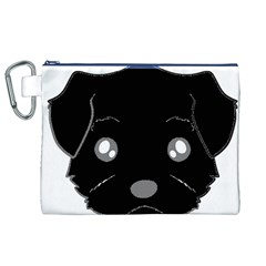 Affenpinscher Cartoon 2 Sided Head Canvas Cosmetic Bag (XL)